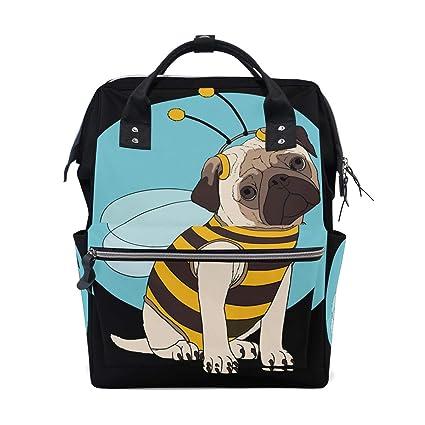 Alinlo Funny Pug - Mochila cambiador de pañales para perro ...