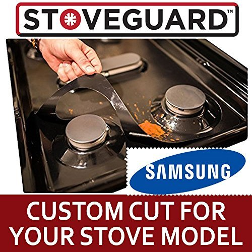 Samsung Stove Protectors - Stove Top Protector for Samsung Gas Ranges - Ultra Thin Easy Clean Stove ()