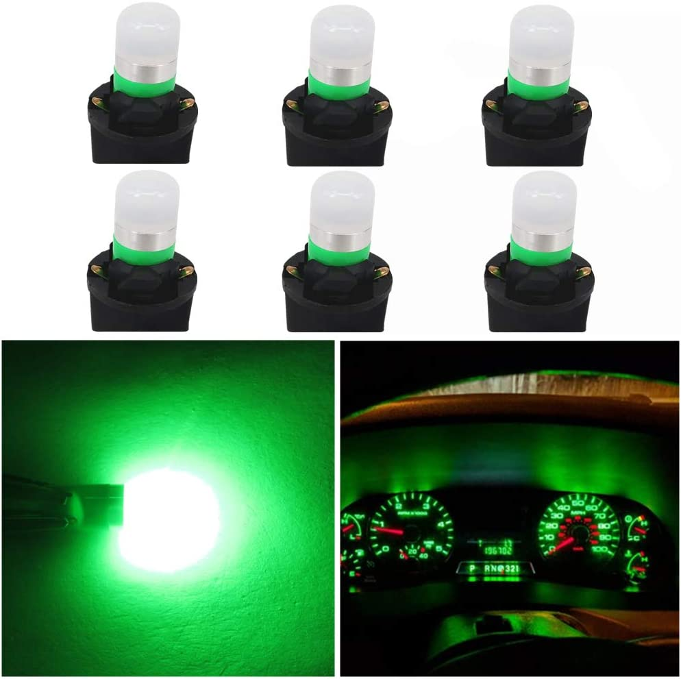 Pack of 6 WLJH Yellow T10 Led 194 2825 168 W5W Bulb Interior Dashboard Dash Lights Instrument Panel Cluster Indicator Lamp Twist Socket PC195 PC194 PC168