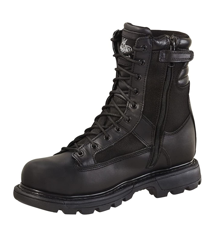834-7992 Thorogood Men's Trooper Zip Uniform Boots - Black