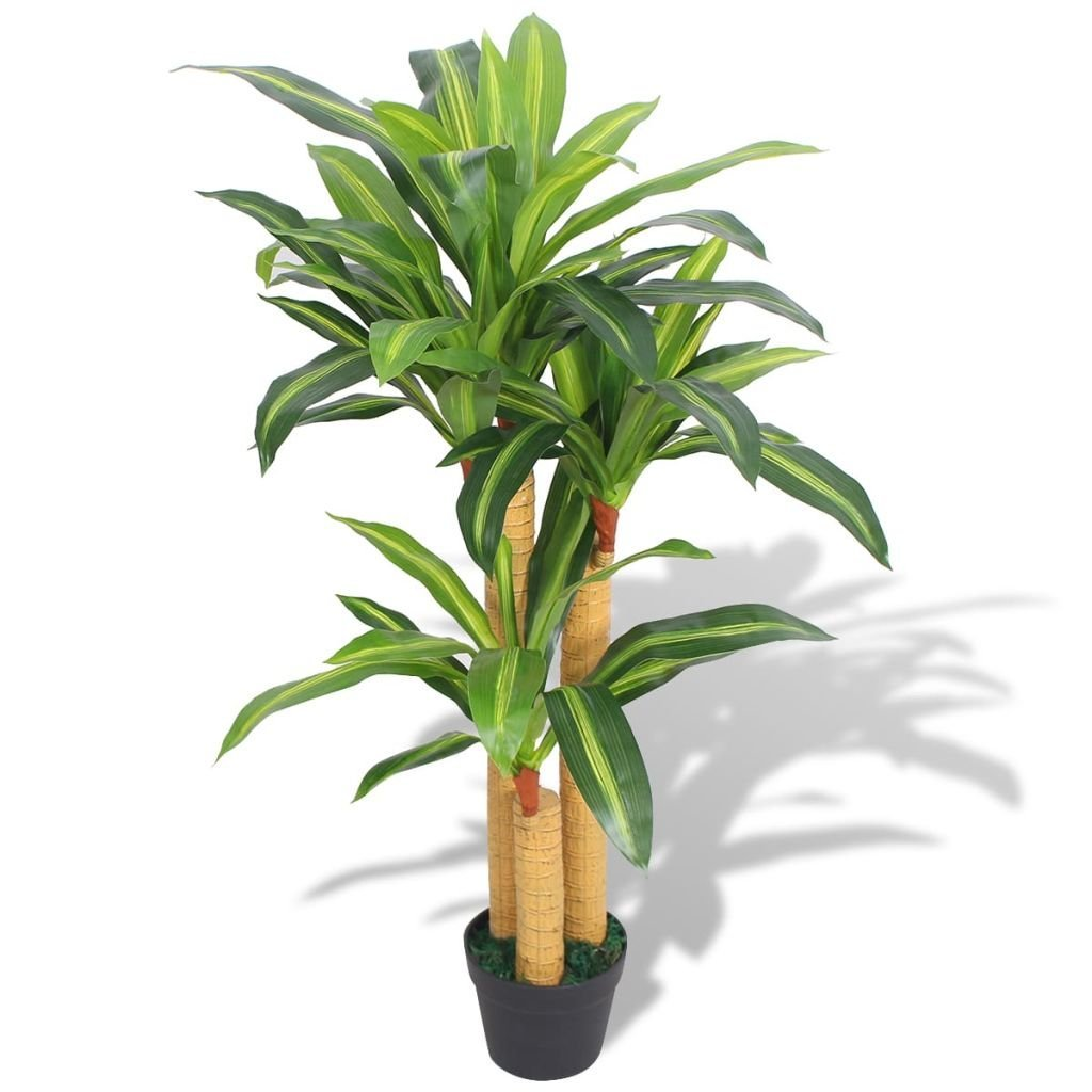 """Artificial Yucca Plant with Pot 61/"""" Green"""