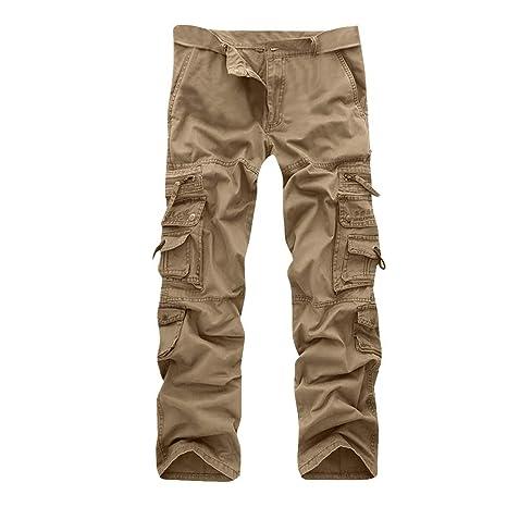 ee13a15076dd14 NPRADLA Hommes Pantalon DéContractéE Plissé Multi Fermeture éClair ...