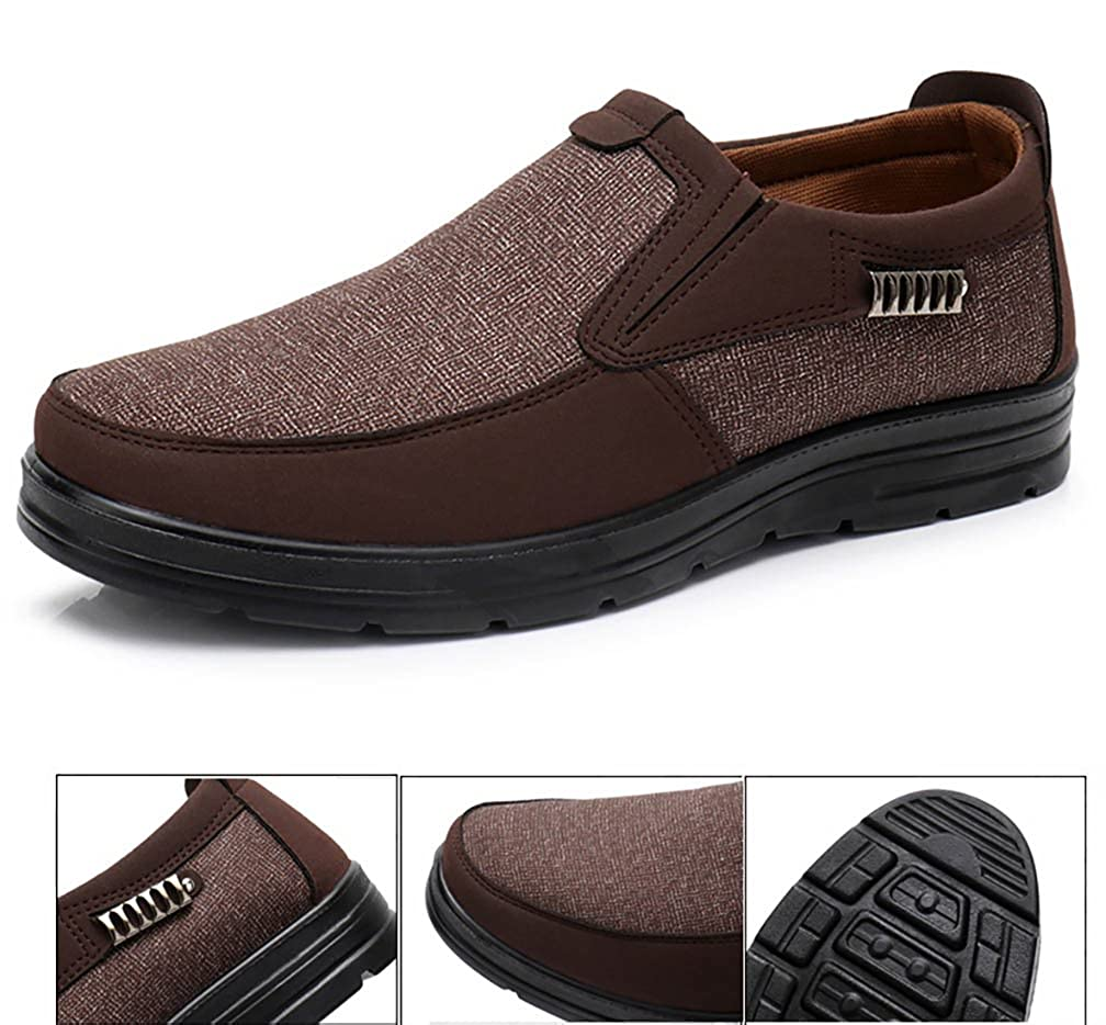 respeedime Middle-Aged Mens Casual Shoes Breathable Old Men