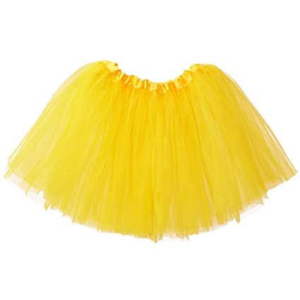 Ksnrang Mädchen Tütü Rock Minirock 3 Lagen Petticoat Tanzkleid Dehnbaren Mini Skater Tutu Rock Erwachsene Ballettrock Tüllroc