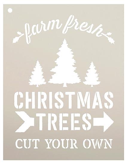 Farm Fresh Christmas Trees.Farm Fresh Christmas Trees Stencil By Studior12 Cut Your Own Arrow Diy Winter Holiday Home Decor Craft Paint Wood Signs Reusable Mylar