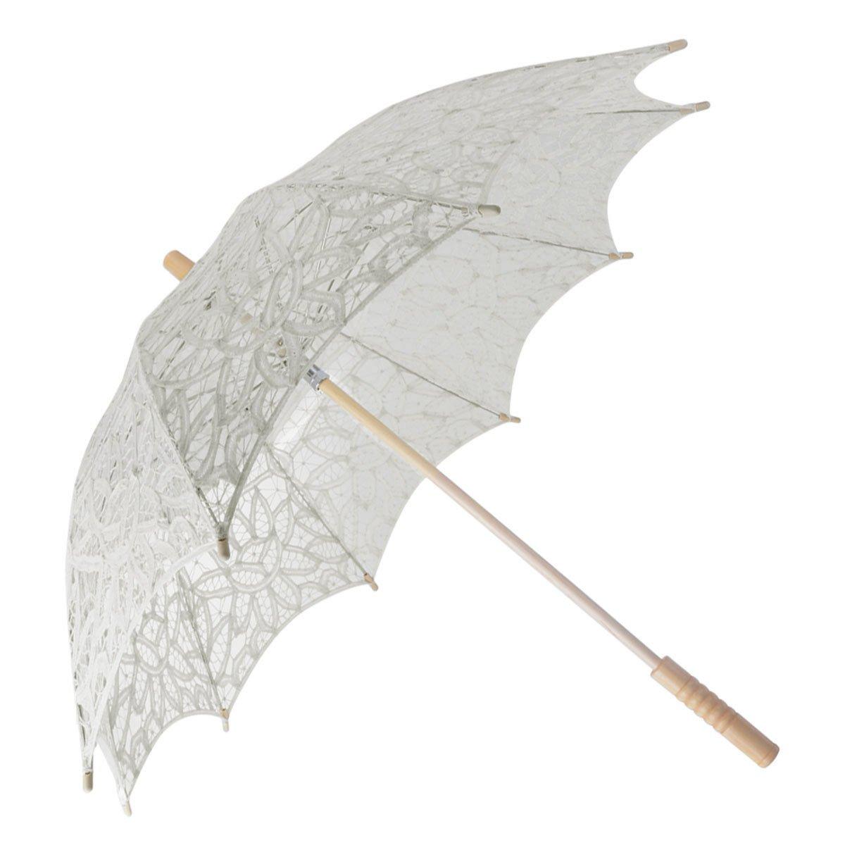 Fascigirl Spitze Sonnenschirm Regenschirm für Braut Brautjungfer Hochzeit