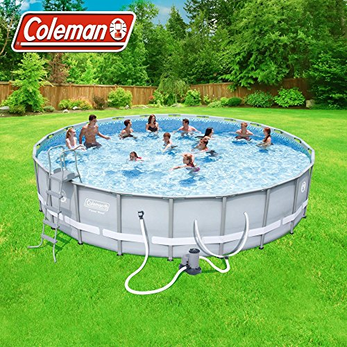 Coleman-22-x52-Power-Steel- Frame Above-Ground Swimming Pool set by Coleman