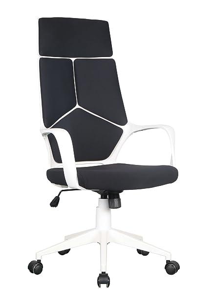 Schreibtischstuhl schwarz weiß  SixBros. Bürostuhl Chefsessel Drehstuhl Schreibtischstuhl Schwarz ...