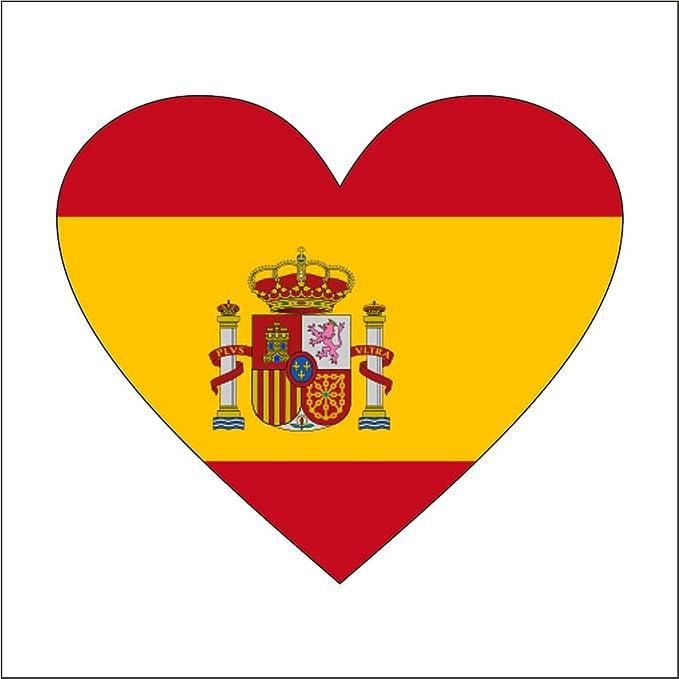 cadora España – Rótulo magnético Frigorífico magnético en forma de corazón Bandera: Amazon.es: Hogar