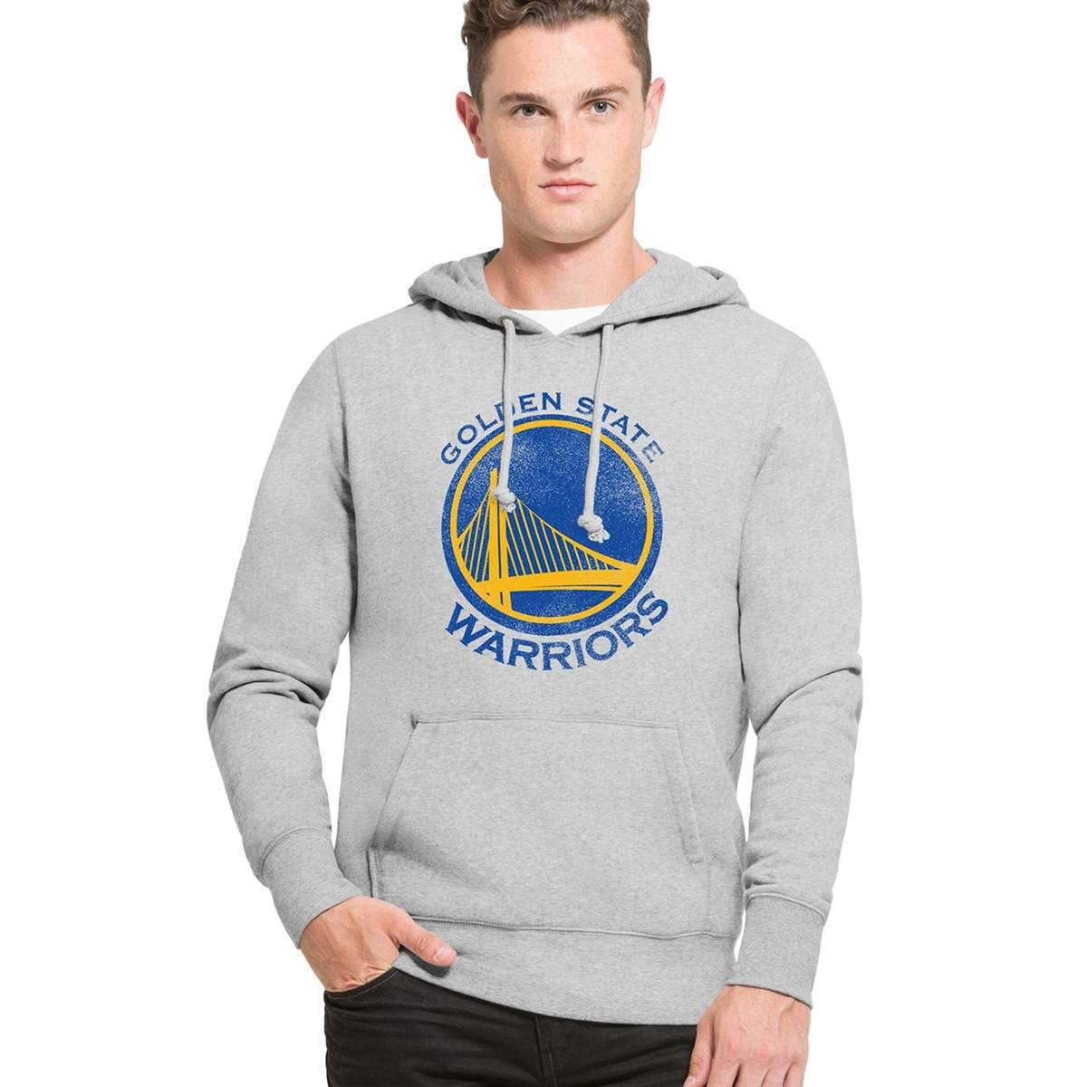 '47 Brand Golden State Warriors Knockaround Hoodie NBA Sweatshirt 307115-SGRY