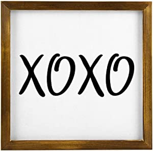 Valentines Love Arrow Hanging Wood Sign with Frame Decor for Garden,Quote Saying with Words Rustic Wood Wall Sign,Personalized Text Funny Wooden Farmhouse Quotes Label l4djrkdnuem1