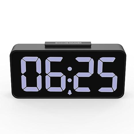 MoKo Despertador Digital con Alarma, 12/24 Horas Reloj con Grande Pantalla DE 8