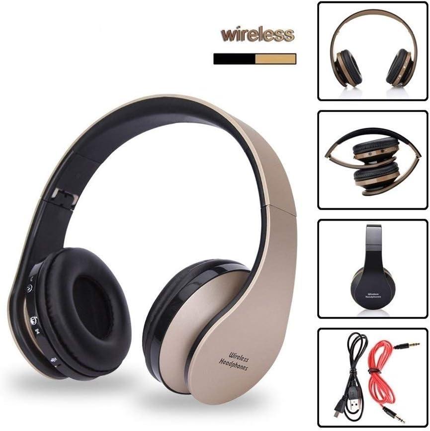 Microphone Wireless Headphones Bluetooth Headset Stereo Foldable Sport Wireless Earphones With Microphone Gaming Headset Cordless Earpiece (Color : Black Blue) Black Red