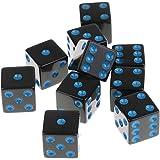 Lovoski 10個 D6骰子  6面 アクリル ダイス ダンジョンズ&ドラゴンズ RPG MTGボードゲーム用 アクセサリー 全4色 - ブルー