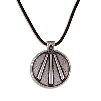 St justin pewter welsh awen pendant on leather thong necklace st justin pewter welsh awen pendant on leather thong necklace mozeypictures Gallery