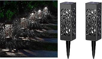 2 lámparas solares LED para exteriores de bloatboy, iluminación para caminos, iluminación de paisajes, iluminación para exterior, iluminación para jardín: Amazon.es: Iluminación