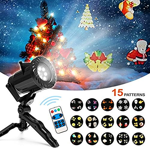 Cecathlon Christmas Projector Lights 15 Scene Patterns Series with Waterproof Motion Projector LED Light with Remote Control,Outdoor or Indoor Decoration for Halloween Christmas Party Birthday Holida