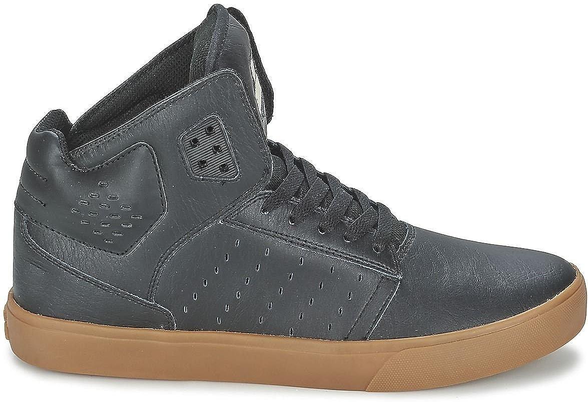 8af92f043eb Amazon.com | Supra Atom Black Gum Mens Leather Skate Trainers Shoes Boots-8  | Shoes