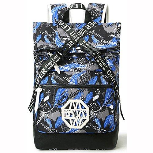 Para Bag Daypack Portátil Moda BlueFeathers Bolso Hombro School SapphireBlue De Casual Mochila q1wX4Wf4a