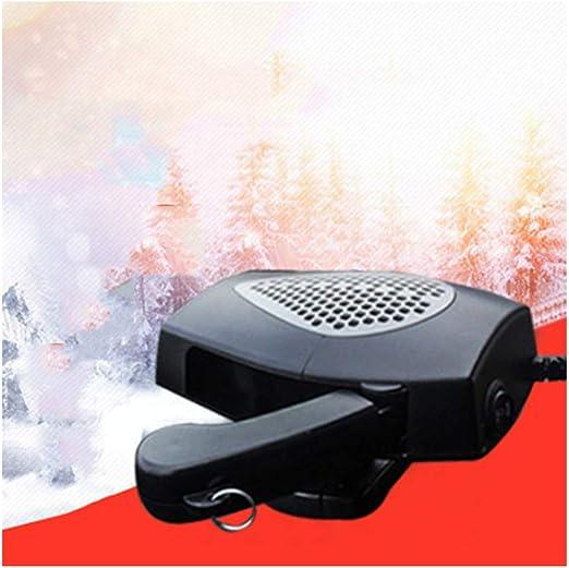 HOXMOMA Calentador de Coche portátil 12 V/24V, 2 en 1 Ventilador portátil de refrigeración para calefacción, descongelador de Coche, Enchufe para mechero 360° Soporte Giratorio,Gris,12V: Amazon.es: Hogar
