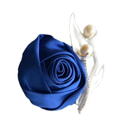 11791ef7c S_SSOY Boutonniere Bridegroom Groom Men's Boutonniere Groomsmen Best Man  Boutineer with Pin Artificial Flower Brooch Corsage