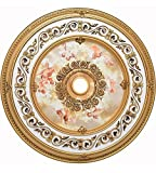 Elegant Lighting MD209D43FG Medallion, French Gold, 43'' by 43'' by 43''