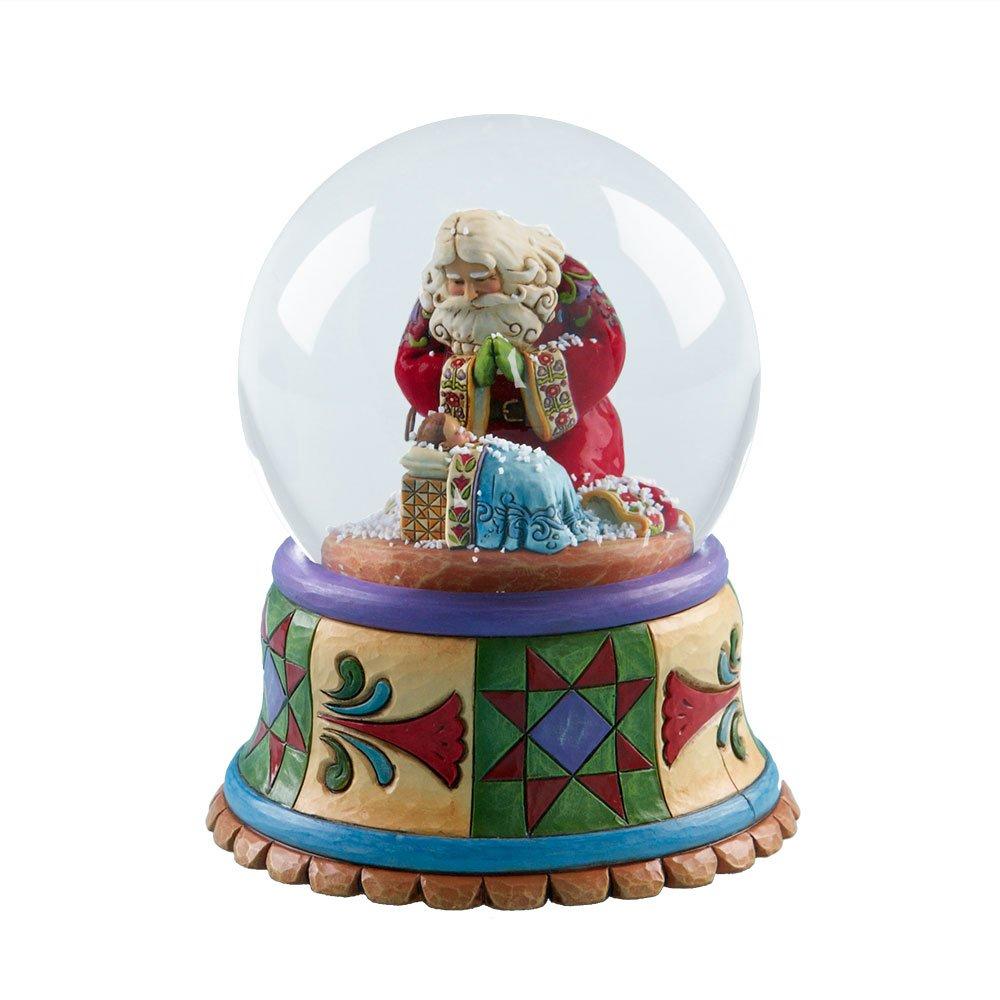 Enesco Jim Shore Heartwood Creek Santa with Baby Jesus Musical Waterball, 100mm 4017627