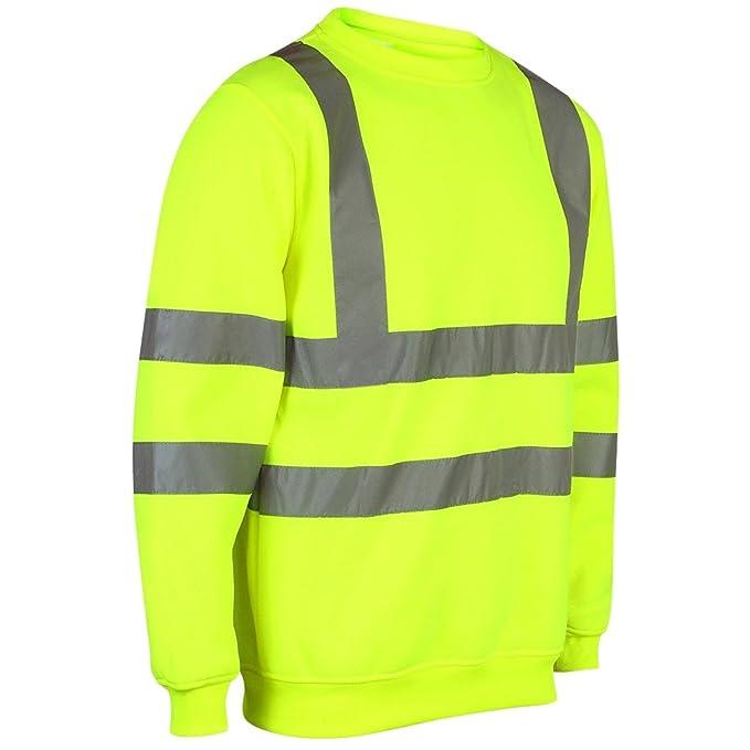 Sudadera de seguridad MyShoeStore®, de alta visibilidad, ropa de trabajo, talla S
