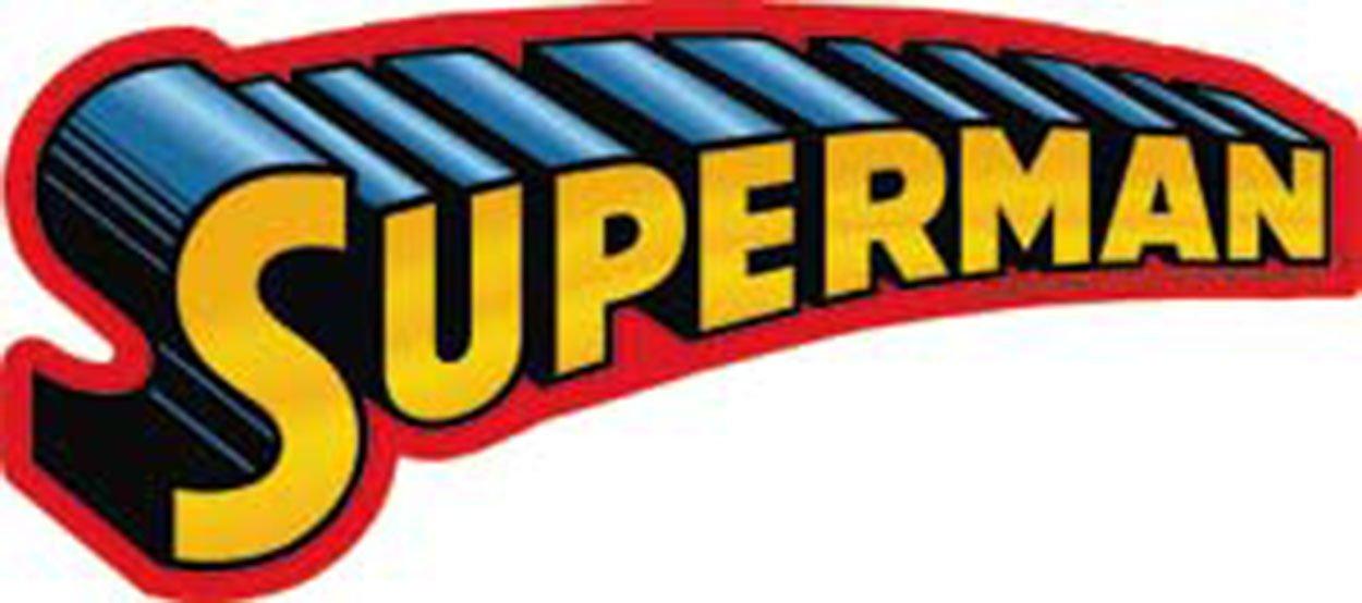 S-DC-0019 Licenses Products DC Comics Superman Text Logo Sticker C/&D Visionary Inc