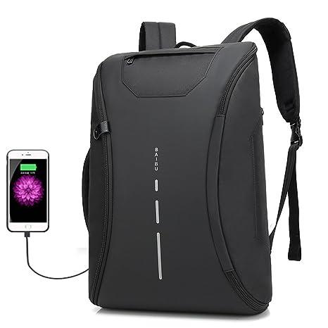 ee21f2354ab6 Amazon.com: baibu Fashion Men's Laptop Backpack Anti Theft USB ...