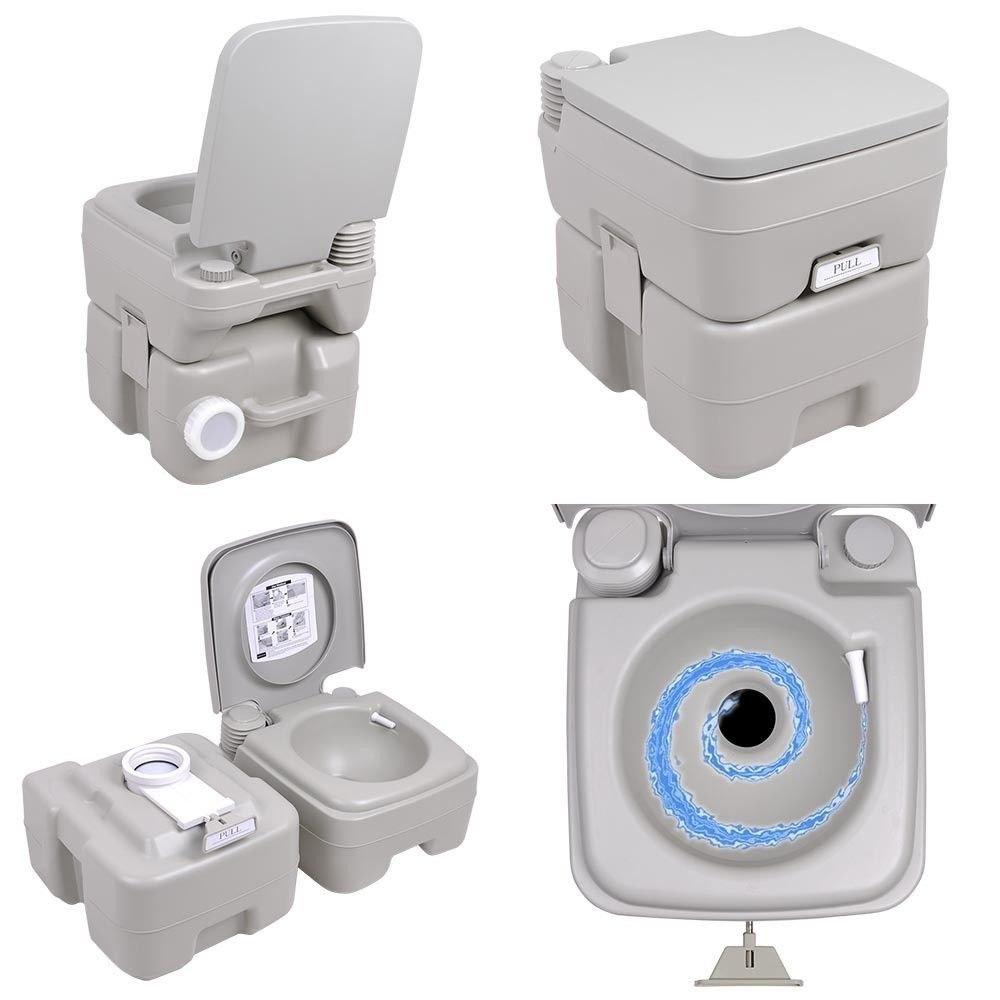 Amazon.com: 5 Gallon Portable Toilet Flush Travel Camping Outdoor ...