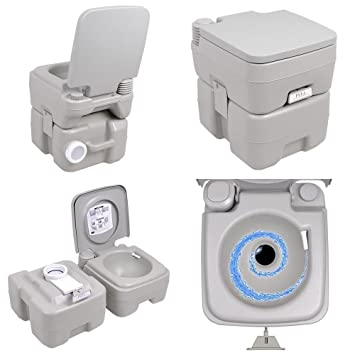 Deluxe Hiking 5 Gallon Portable Toilet Flush Travel Camping Outdoor ...