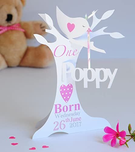 Personalised Pop Up Paper Cut 1st Birthday Card For A Baby Girl Daughter