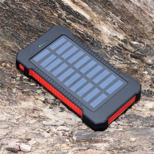 Best Seller Portable Waterproof 500000 mAh Dual USB Portable Solar Battery Charger Solar Power Bank For iPhone X / 8 / 8 Plus / 7 / 7 Plus / Samsung Galaxy 8 / S8 Plus / iPad /Tablet (Red)