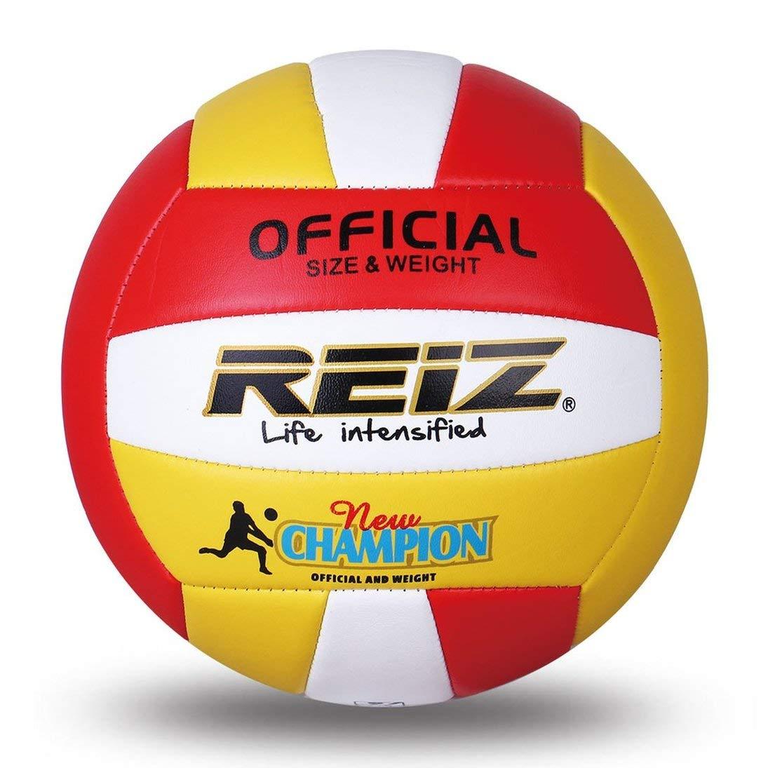 Togames-ES REIZ Suave Voleibol de PU Oficial Tamaño 5# Voleibol Bola de Entrenamiento Profesional para Interiores y Exteriores Aguja Neta