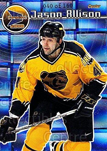(CI) Jason Allison Hockey Card 1999-00 Prism Holographic Mirror 10 Jason Allison ()