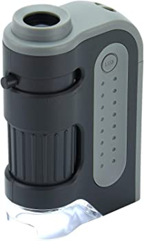 Carson Lighted Pocket Microscope With Aspheric Lens System