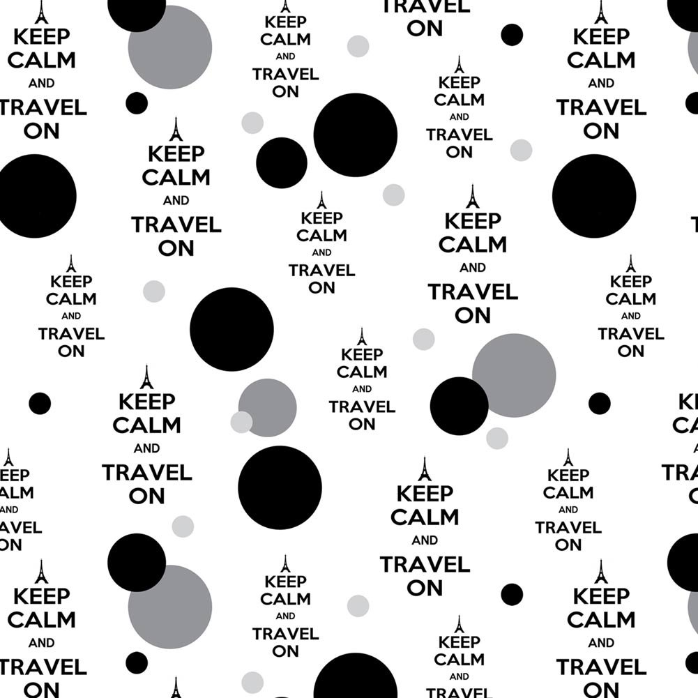 Premium Gift Wrap Wrapping Paper Roll Pattern - Keep Calm and P-Y - Travel On Eiffel Tower Paris France