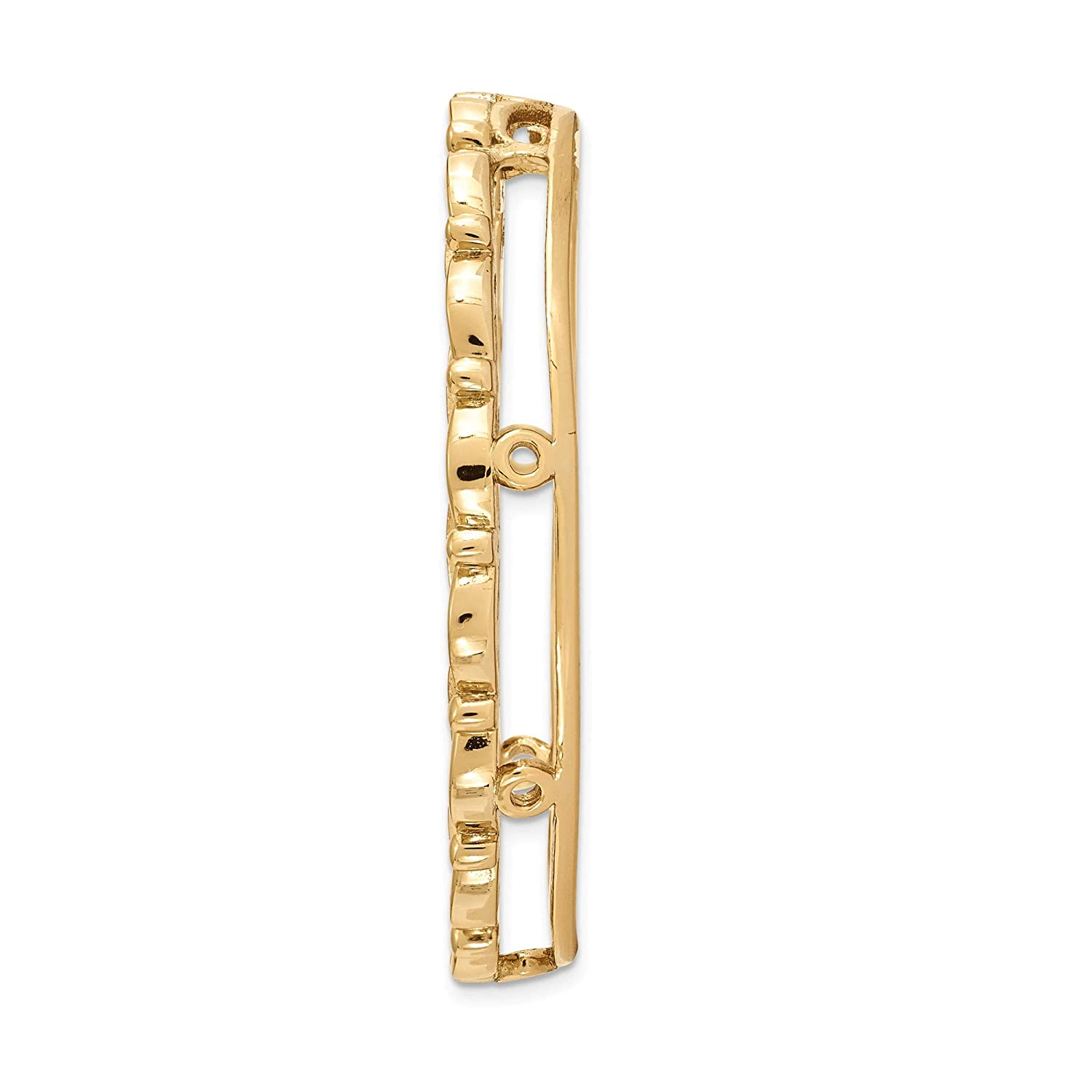 Bonyak Jewelry Sterling Silver Stackable Expressions Gold-Tone Large Polished Chain Slide