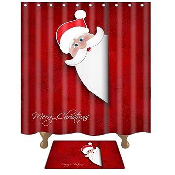 Weihnachts Duschvorhang und Neujahr Bad Duschvorhang dicke ...