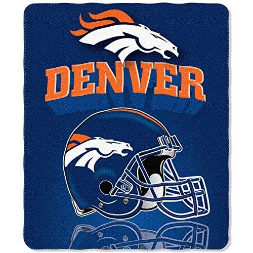 NFL Denver Broncos Gridiron Fleece Throw, 50-inches x (Team Pride Fleece)