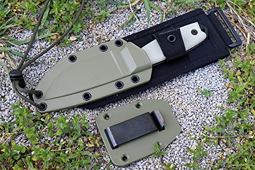ESEE Knives ESEE-3MIL-P Military Plain Black Edge / w Green Canvas Micarta Handles by ESEE Knives (Image #6)