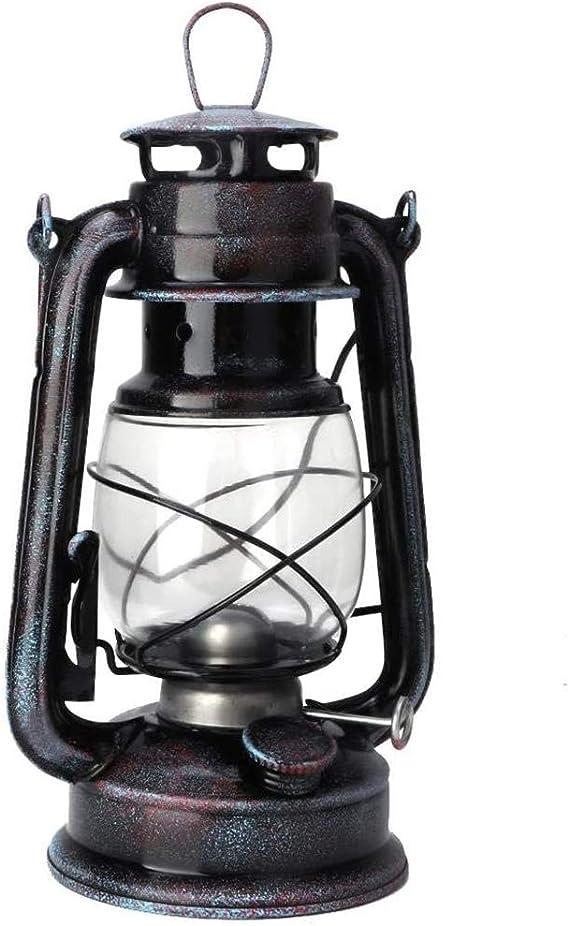 POFET Farol de tormenta vintage con luces de aceite, farol quemado, farol retro, lámparas de queroseno, lámpara de aceite clásica para el hogar, ...