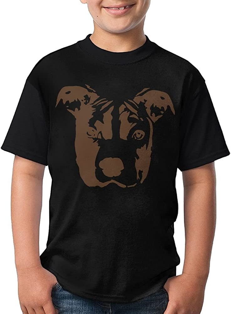 TXYHDX11 Gift for Youth 1 Short Sleeve Crew-Neck T-Shirt Black Pit Bull