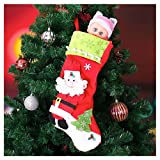 "Pack of 4 18"" 3D Plush Christmas Stockings for Christmas Decorations by Joiedomi"