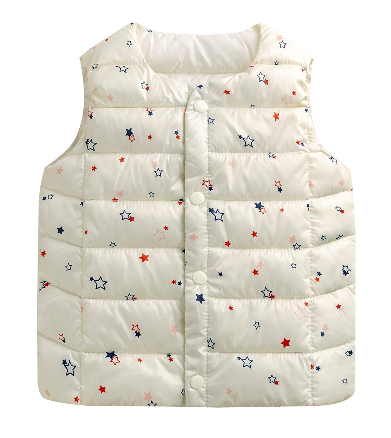 Happy Cherry Kids Boys Girls Toddlers Warm Down Jackets Autumn Winter Vest Tops Children Sleeveless Coat Gilets Outerwear