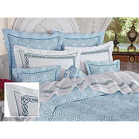Ballard Luxury Bedding Sheet Sets Twin 100 Egyptian Cotton Sateen 1 Flat 1 Fitted 1 Std Sham Navy