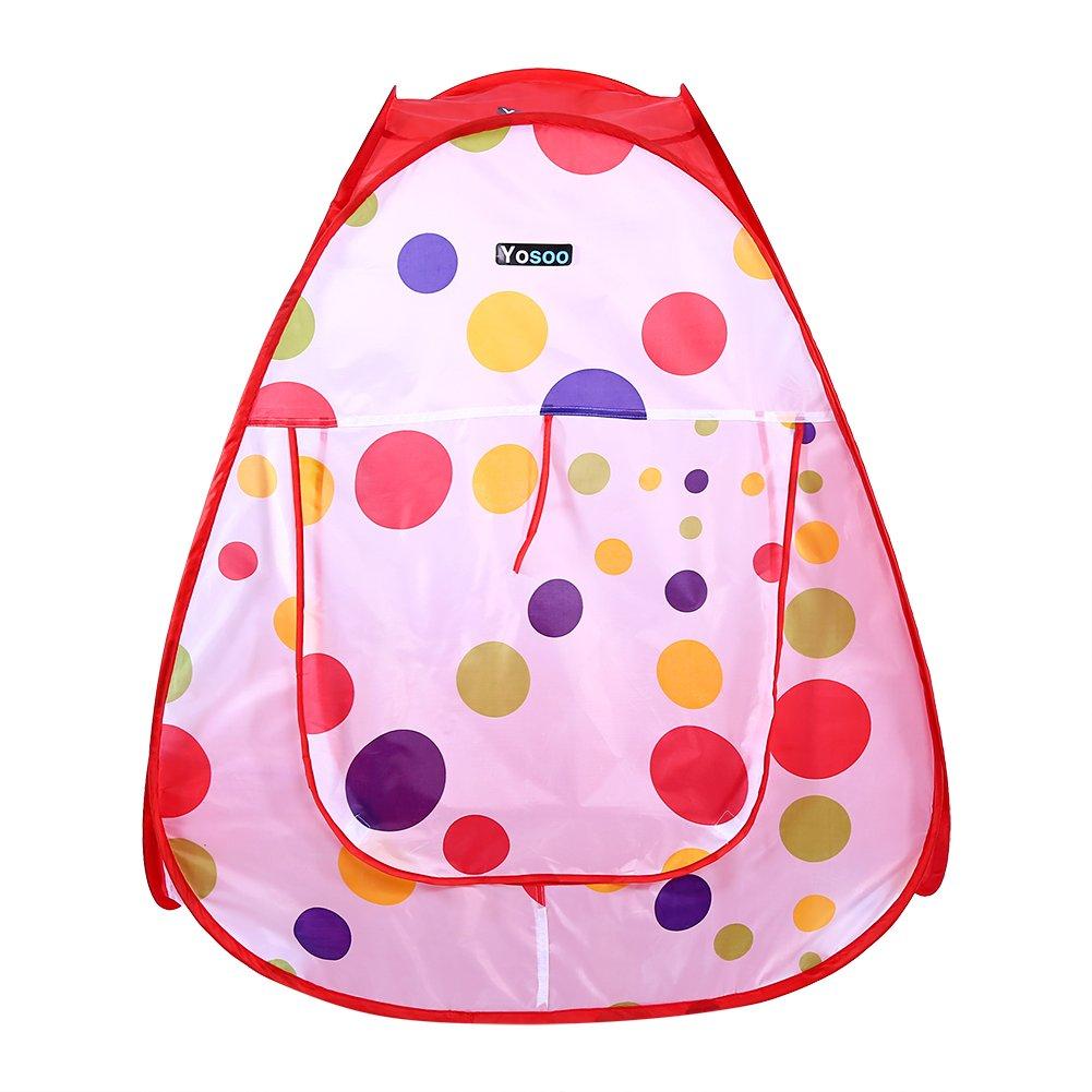 Tente de Jeu et Tunnel 3 en 1 pour Bebe Enfant Maison Pliant Tente de Jeu avec Tunnel Piscine pour Enfants Exterieur Int/érieur