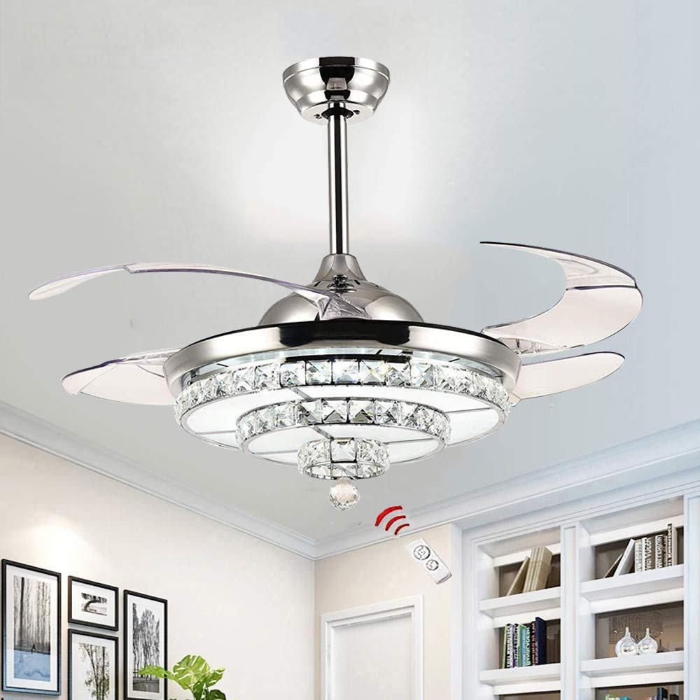 Modern Ceiling Fan Lights Dining Room Bedroom Living Remote Control Fan Lamps Invisible Ceiling Lights Fan Lighting 22 3 Speed Led Ceiling Fan With Lights Stepless Dimmable With Remote Control Ceiling Fans