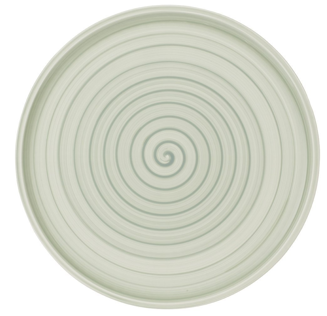 Artesano Nature Vert Buffet/Pizza Plate by Villeroy & Boch - Premium Porcelain - Made in Germany - Dishwasher and Microwave Safe - 12.5 Inches